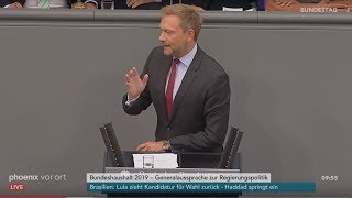 Rede von Christian Lindner zur Regierungspolitik der Bundeskanzlerin am 12.09.18