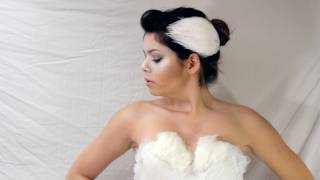 DIY WHITE SWAN HAIR PIECES