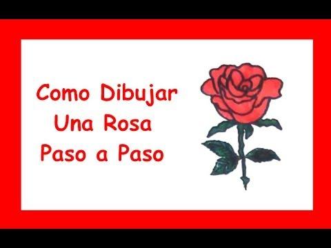Como dibujar una rosa paso a paso dibujo de una rosa - Como secar una rosa ...