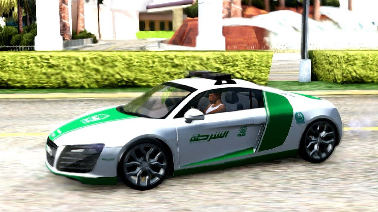 2014 Audi R8 V8 FSI Dubai Police | #75 New Cars / Vehicles 2 To GTA San  Andreas [ENB]