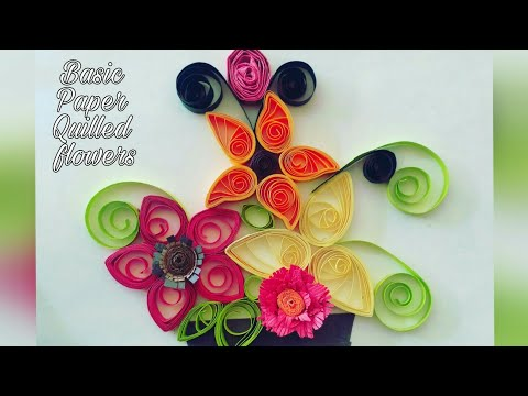 DIY! Basic paper quilling, most easy and basic flower quilling.