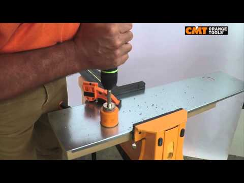 CMT hole saw 551 on galvanized sheet metal