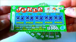 Zdrapki Lotto # 40 Premiera !!! Joker !!! Drapiemy 20 zdrapek i jest parę wygranych  💪