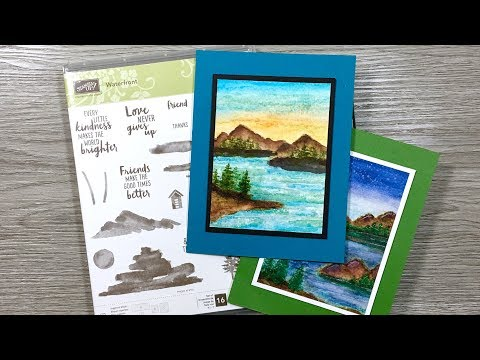 Waterfront Cards | Art Stamping Watercoloring Stampin Up