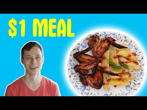 How to bake chicken and potato in oven - meal for $1