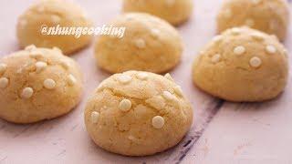 Cách Làm BÁNH QUY CHANH DỪA - LEMON COCONUT COOKIES | Nhung Cooking