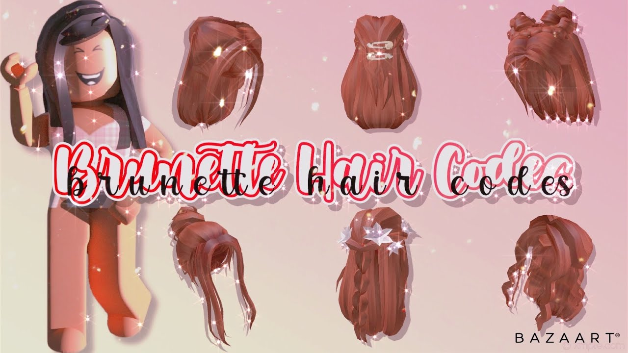 Brunette Red Brown Hair Codes For Bloxburg Roblox Bloxburg Youtube