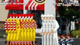 麥當勞VS肯德基&大中天 MUGEN無限格鬥瘋狂多人版藍藍路大戰KFC跟魯蛋大中天