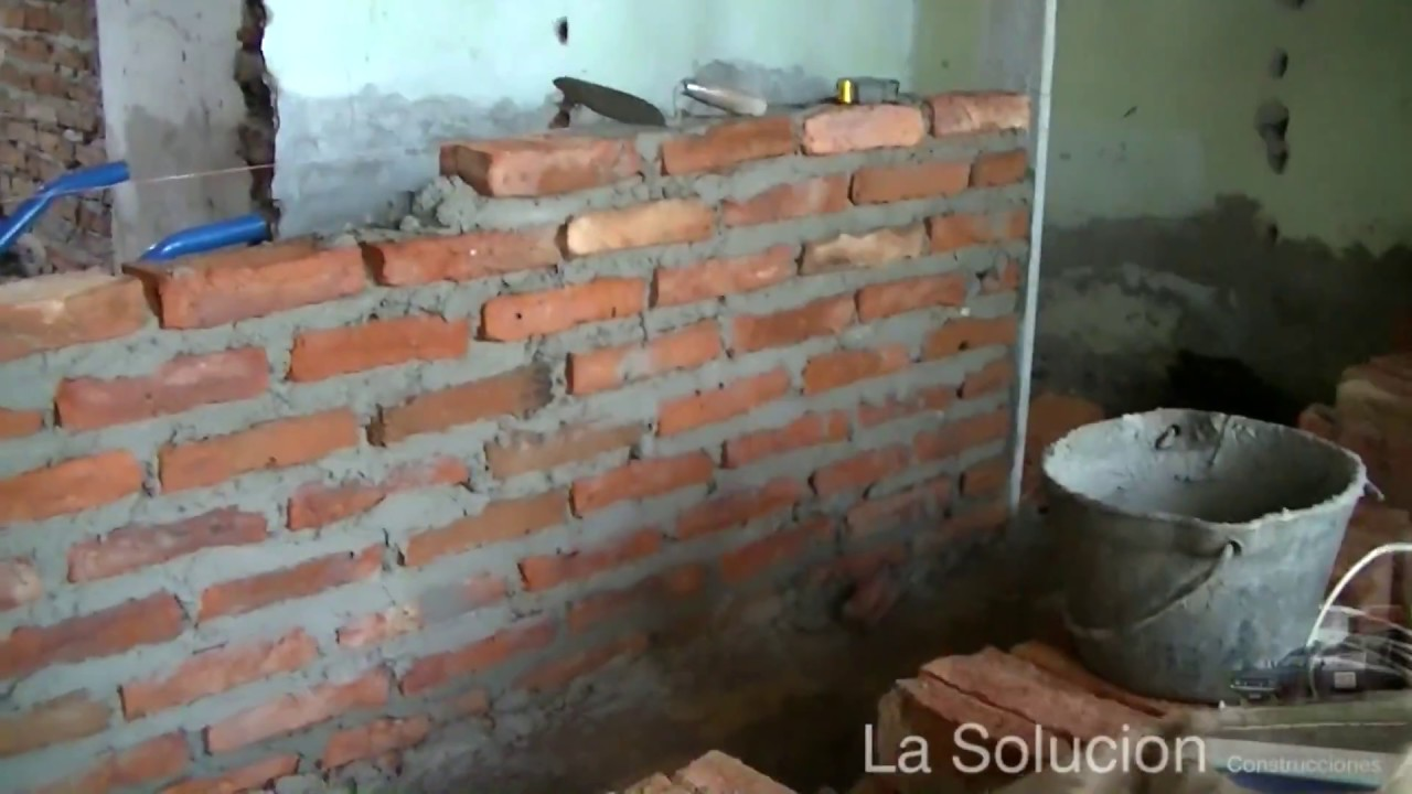 hacer pared de ladrillo youtube