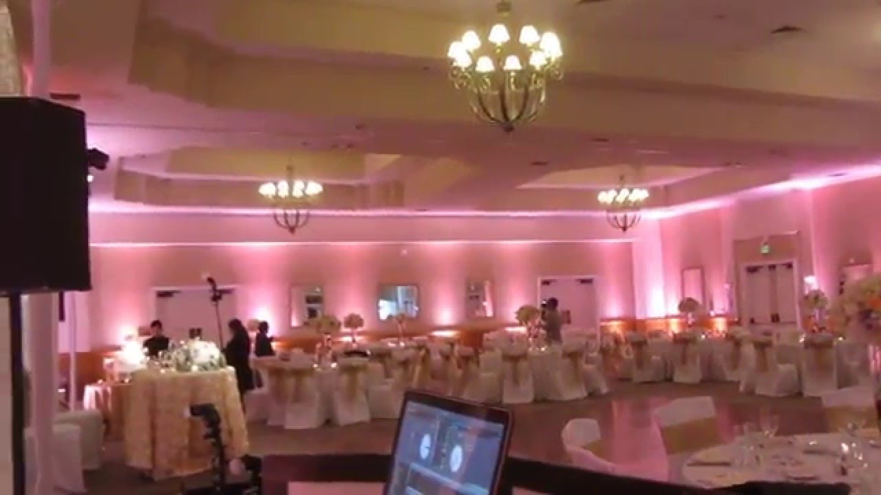 Dj Lighting Setup Los Coyotes Country Club Wedding