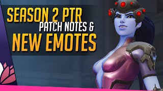 Overwatch: PTR S2 Patch & New Emotes!