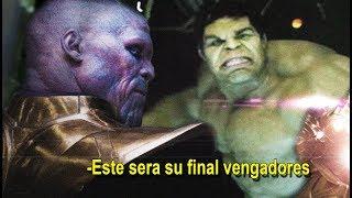 ¿Se Filtra el Final de Los Vengadores la Guerra del infinito? Supuesto Guion