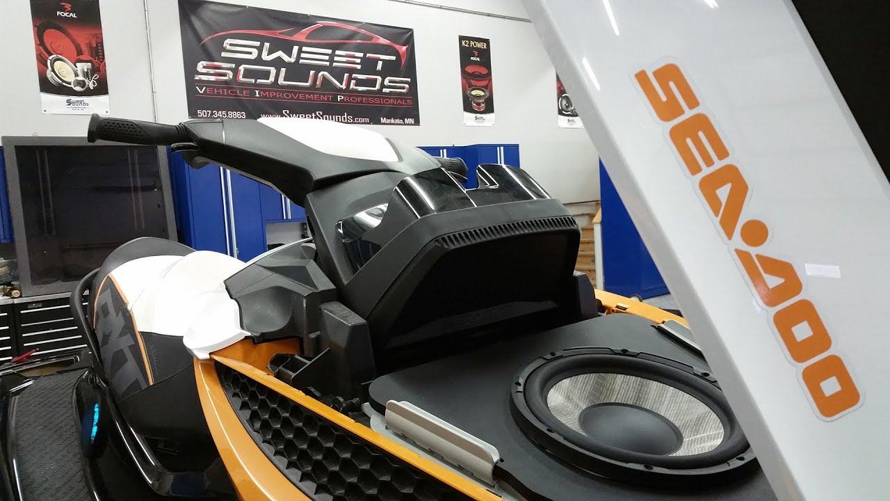 Seadoo Pwc Marine Stereo System Youtube