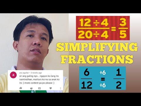 SIMPLIFYING FRACTION | Tagalog