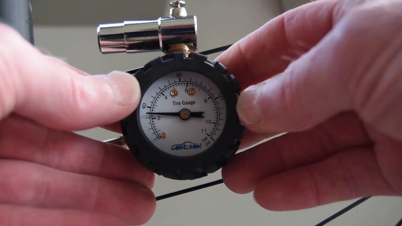 topeak gauge  Godeson Presta Valve Bicycle Tire Pressure Gauge vs Topeak D2 ...