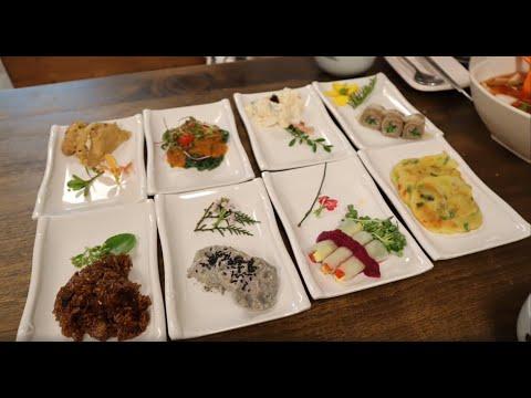 韓國吃喝|京畿道坡州《豆醬餅花韓定食》,精緻平價韓定食送咖啡+免費參觀
