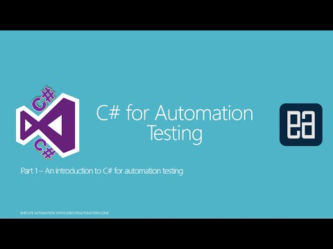 Part 1 - An Introduction to C# for Automation Testing