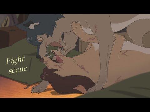 Wolf Children - Fight scene (HD)