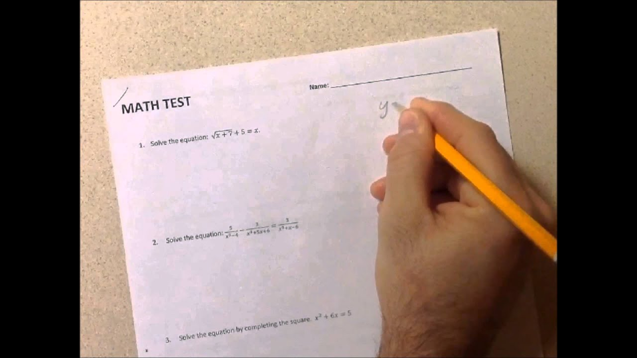 Worksheet How Do You Study For A Math Test how to study for a math test youtube