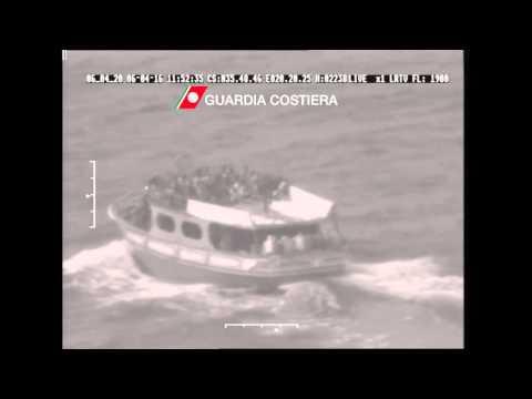 Italian Coast Guard rescues migrant boat from Egypt
