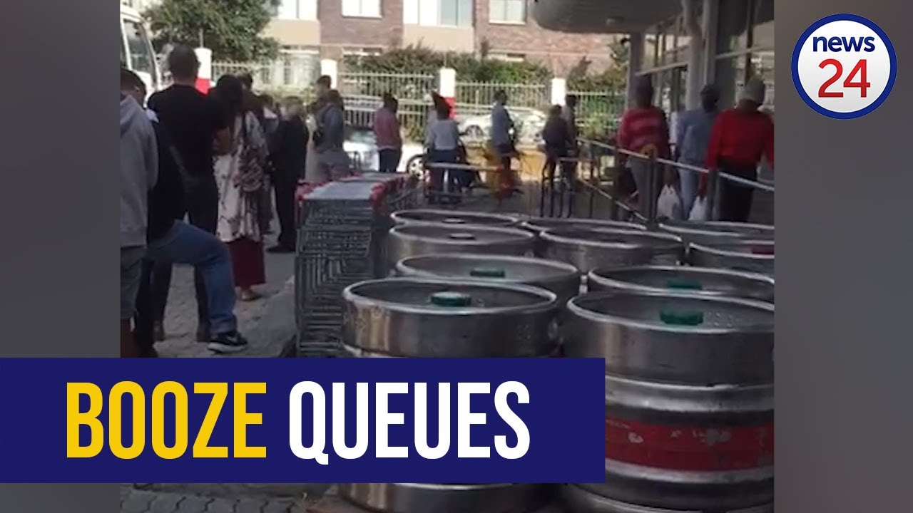 WATCH | South Africans queue for booze as alcohol crackdown and lockdown looms - News24