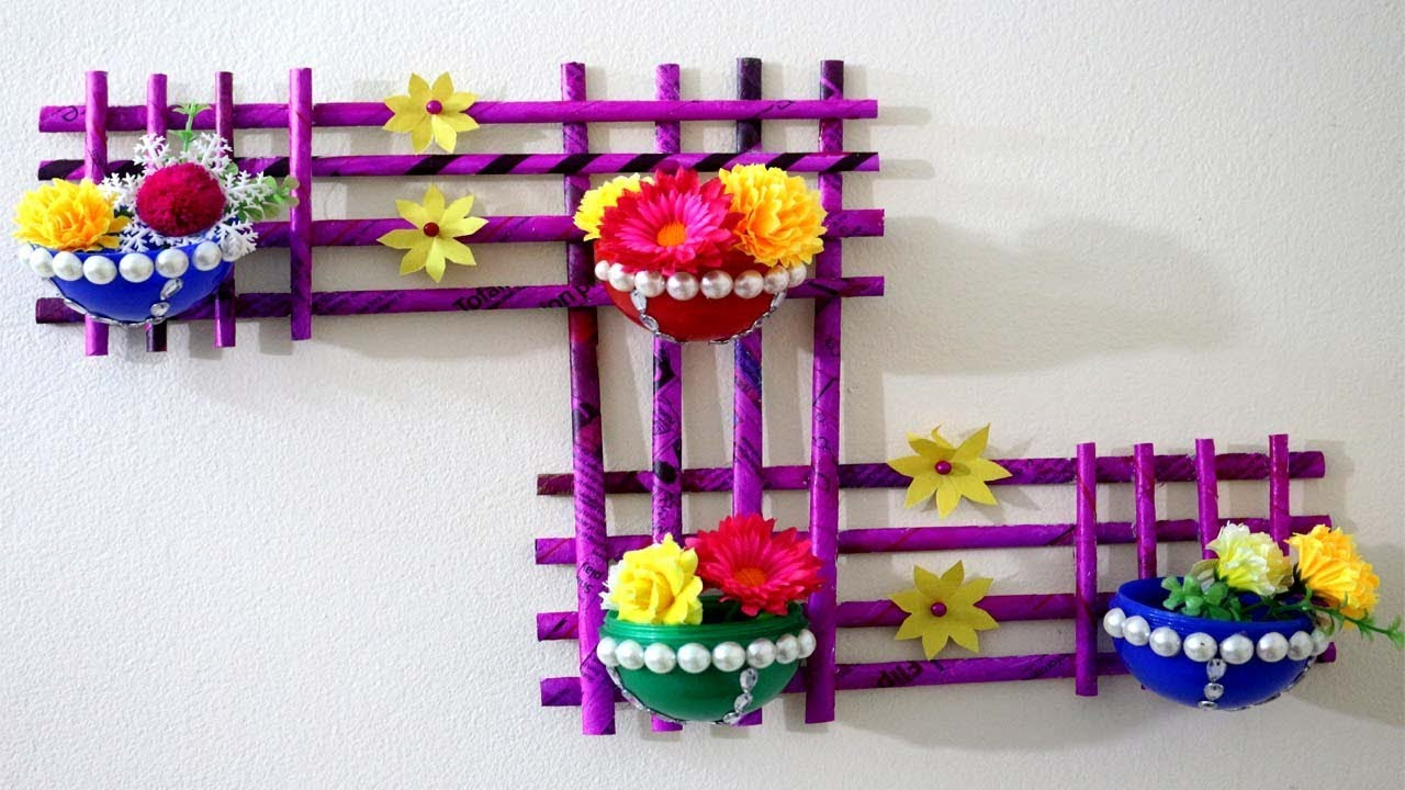 Newspaper Craft How To Make Newspaper Wall Hanging With