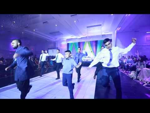Groom and Groomsmen Surprise Bhangra/Hip Hop Performance for Bride