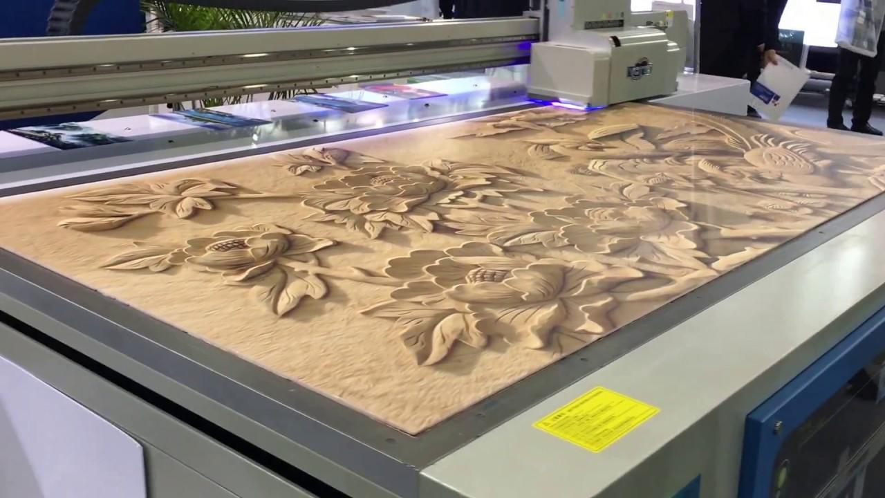 3d effect uv printer ricoh g5 head 3d printing machine for Digital mural printing