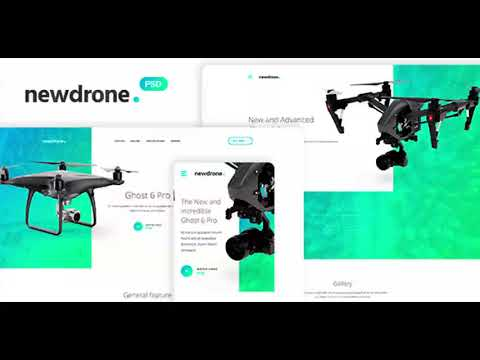 Newdrone – Sale Page or Landing Page Concepts PSD Templates | Themeforest Website Templates and