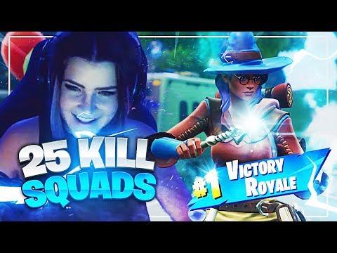 25 KILL SQUADS w/ Ghost Aydan & ItsDiggyTV (Fortnite: Battle Royale) | KittyPlays