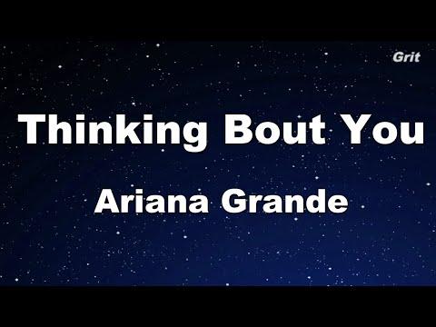 Thinking Bout You - Ariana Grande Karaoke 【No Guide Melody】 Instrumental