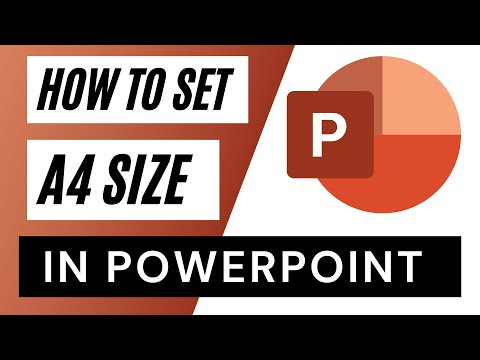how to set a4 size in powerpoint