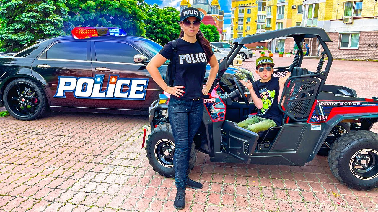 Den Ride on Car and solves Troubles with the Police