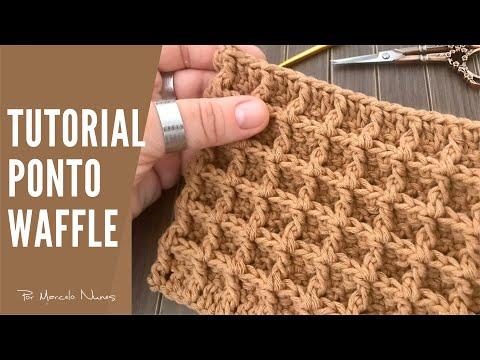 Ponto Waffle em Crochê - Por Marcelo Nunes