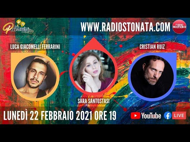 22.02.2021 - S. Santostasi, L. Giacomelli Ferrarini e C. Ruiz ospiti in diretta a Radio Stonata