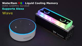 WaterRam RGB Liquid Cooling Memory Works With Amazon Alexa