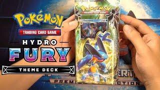 Mở hộp bài Pokemon Hydro Fury Theme Deck Celestial Storm   Sun and Moon   M2DA
