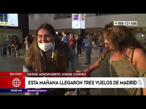 Primera Edición: Tres vuelos de España llegaron esta mañana a Lima