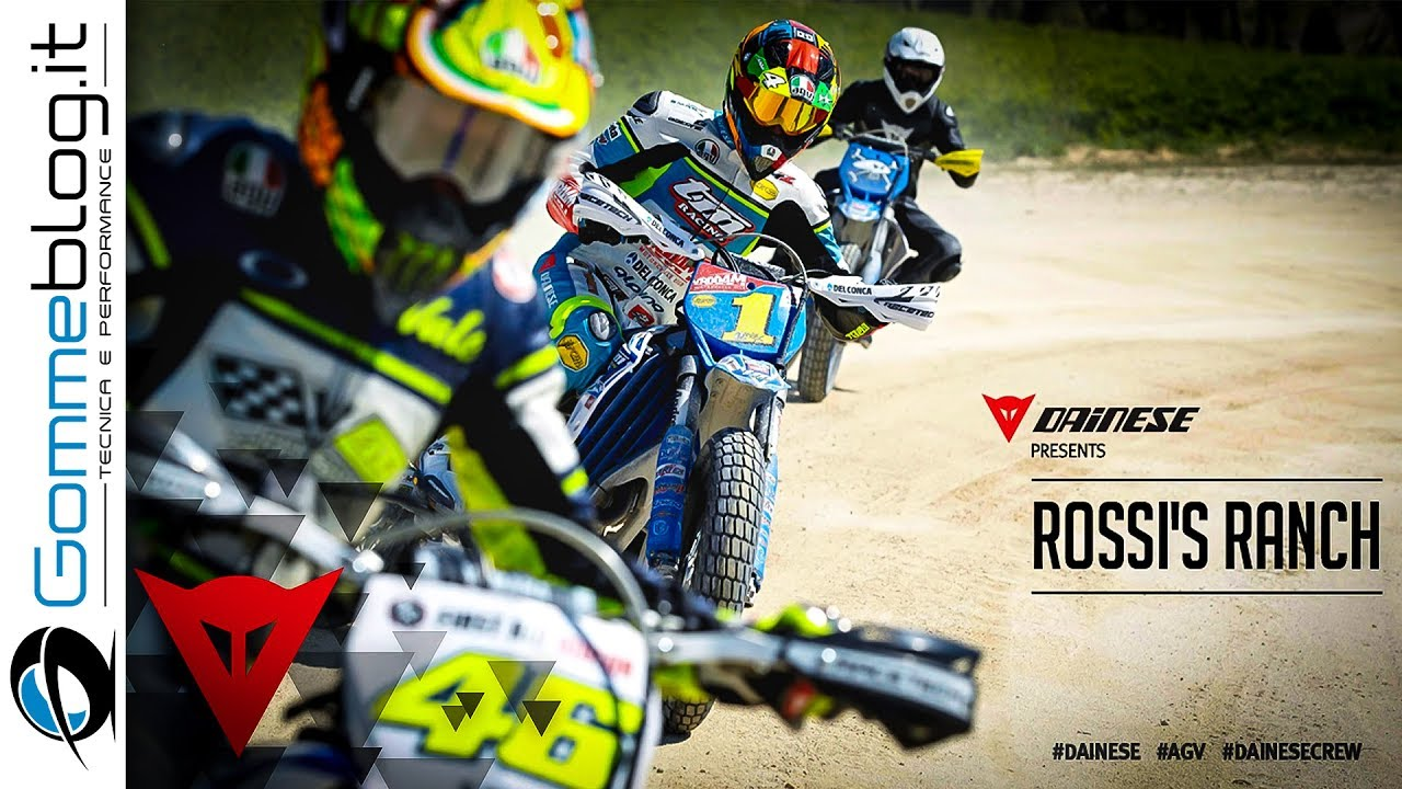 Valentino Rossi vs Guy Martin AWESOME DUEL at the Ranch
