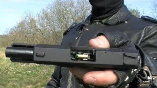 Pistolet hukowy STALKER M906  strzelanie test amunicji hukowej do 6 mm  .