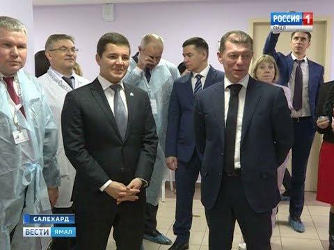 Максим Топилин и Дмитрий Артюхов посетили ряд соцобъектов Ямала