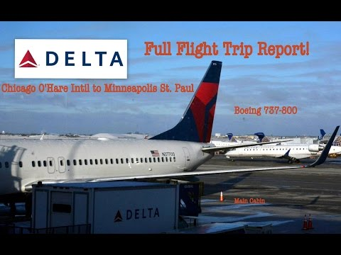 #35: DELTA B737-800 SNOWY FLIGHT TRIP REPORT! (Chicago to Minneapolis, Main Cabin)