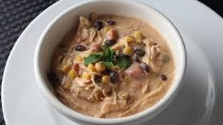 Crock Pot Cream Cheese Chicken Chili Thumbnail