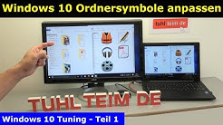 Windows 10 Tuning - Ordnersymbole ändern - eigene Fotos als Icon - Icon Download - [4K Video]