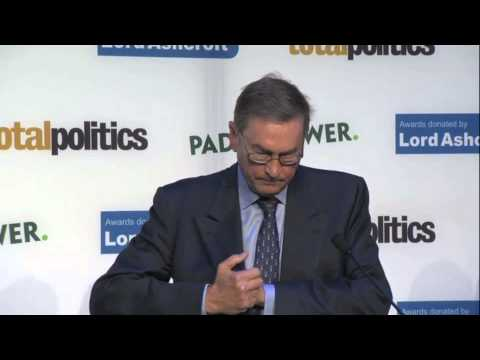 Lord Ashcroft presents Caroline Shenton with Political Book of the Year