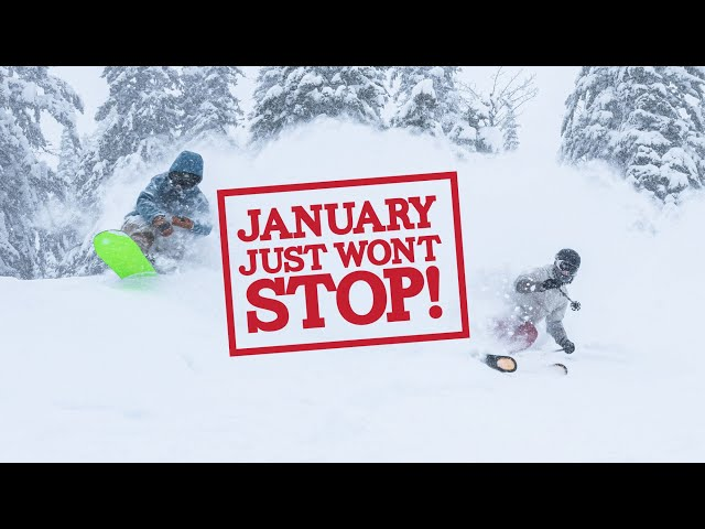 January Is Relentlessly Dumping Pow