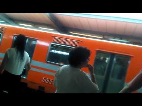 Metro CDMX || Trenes NM-73BR de cabina CAF en Jamaica - Línea 4