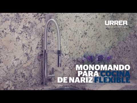 Gifería Cocina URREA – Monomando para cocina de nariz flexible