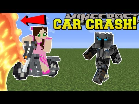 Minecraft: JEN CRASHES A CAR!!! - Animation