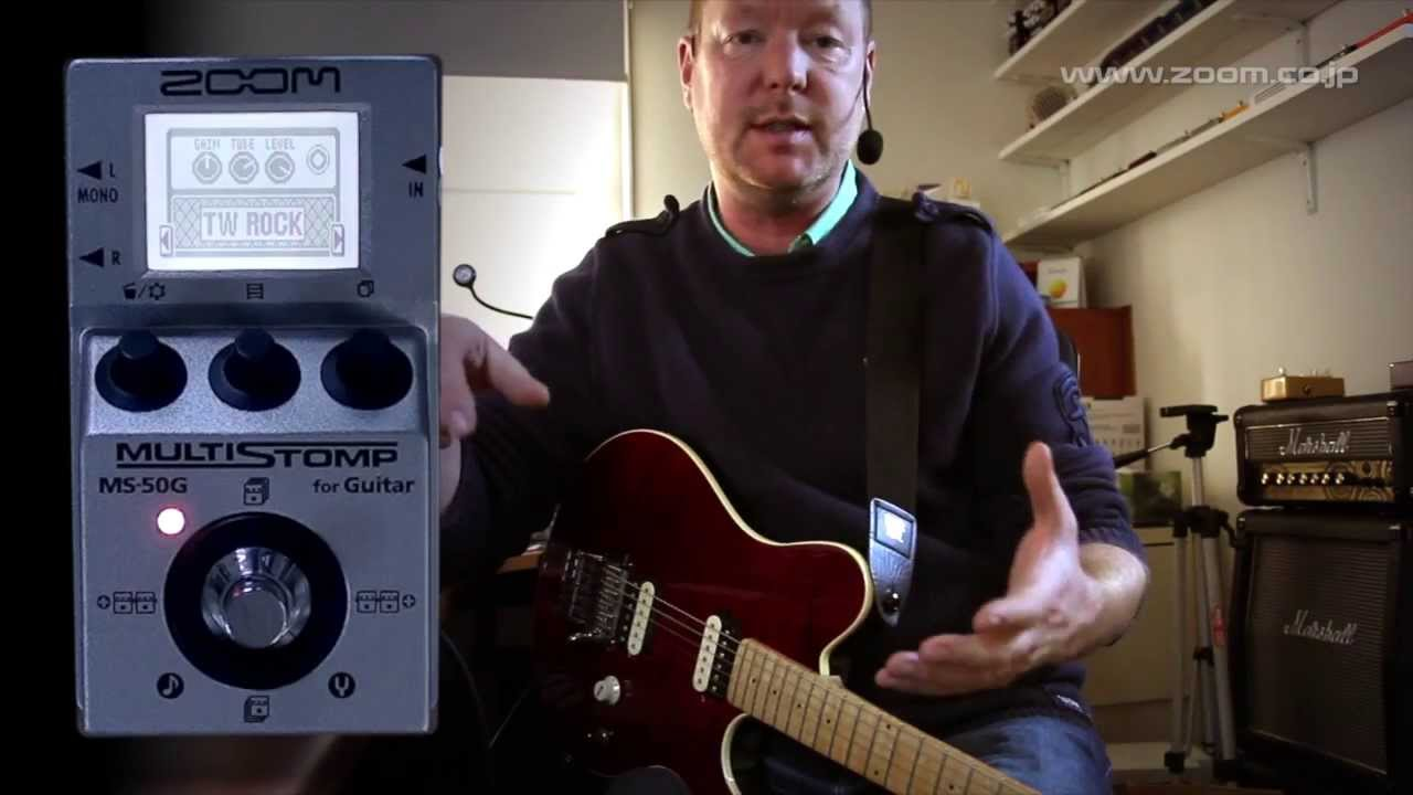 zoom ms 50g multistomp part 1 general overview as direct device youtube. Black Bedroom Furniture Sets. Home Design Ideas